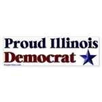 Proud Illinois Democrat Bumper Sticker