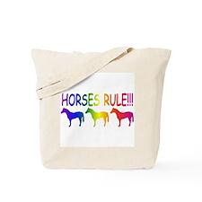Horses Rule Tote Bag
