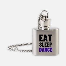 Eat Sleep Dance Flask Necklace