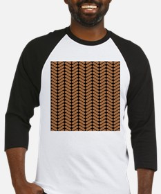 Brown Zigzag Pattern. Baseball Jersey