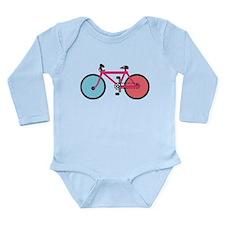Bicycle Long Sleeve Infant Bodysuit