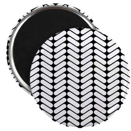 "Monochrome Zigzag Pattern. 2.25"" Magnet (100 pack)"