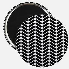 Black Zigzag Pattern. Magnet