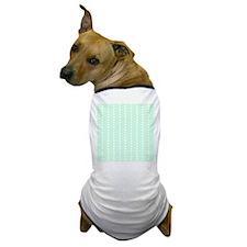 Mint Green Zigzag Pattern. Dog T-Shirt