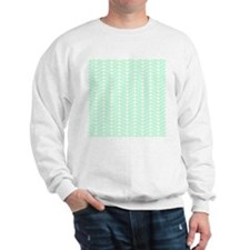 Mint Green Zigzag Pattern. Sweatshirt