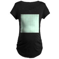 Mint Green Zigzag Pattern. T-Shirt