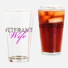 DCU Army Vet Wife Drinking Glass