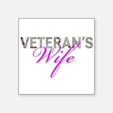 """DCU Army Vet Wife Square Sticker 3"""" x 3"""""""
