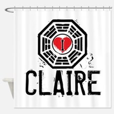 I Heart Claire - LOST Shower Curtain