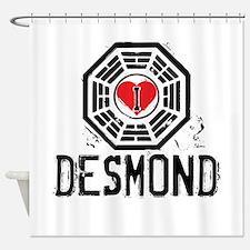 I Heart Desmond - LOST Shower Curtain