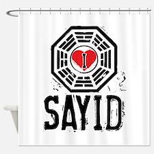 I Heart Sayid - LOST Shower Curtain