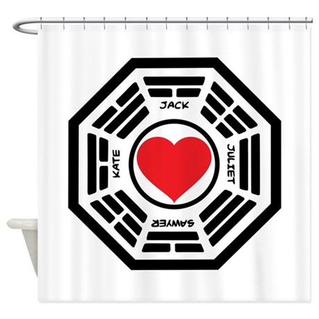 LOST Love Square Shower Curtain