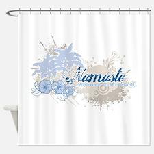Blue Namaste Shower Curtain