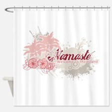 Red Namaste Shower Curtain