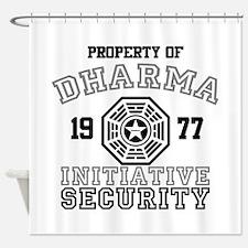 Dharma Initiative - Security Shower Curtain
