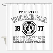 Property of Dharma - Looking Shower Curtain