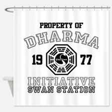 Property of Dharma - Swan Shower Curtain