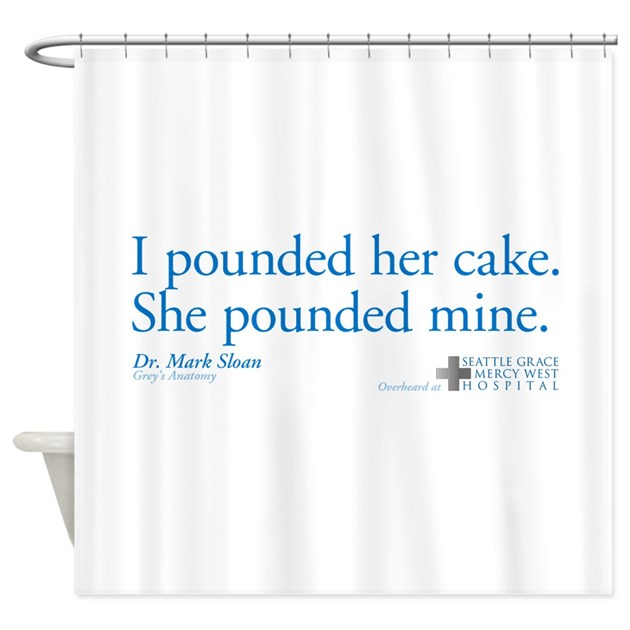 Poundcake Quote Shower Curtain By Wheetv10