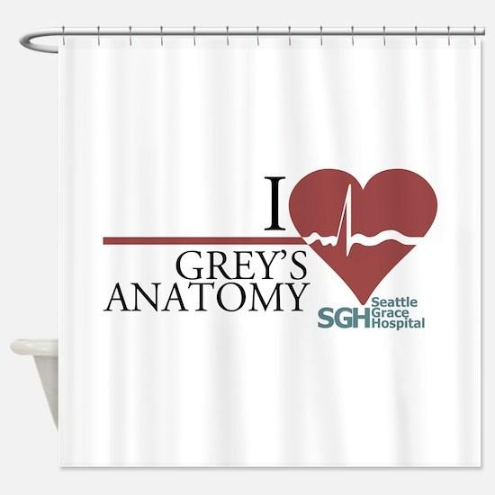 I Heart Grey's Anatomy Shower Curtain