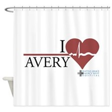 I Heart Avery - Grey's Anatom Shower Curtain