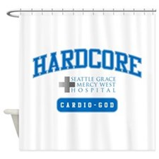 Hardcore Cardio-God Shower Curtain