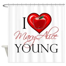 I Heart Mary Alice Young Shower Curtain