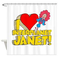 I Heart Interplanet Janet! Shower Curtain