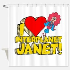 I Heart Interplanet Janet! Shower Curtain