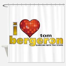 I Heart Tom Bergeron Shower Curtain