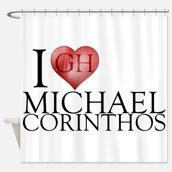 I Heart Michael Corinthos Shower Curtain