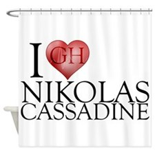 I Heart Nikolas Cassadine Shower Curtain