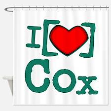 I Heart Cox Shower Curtain