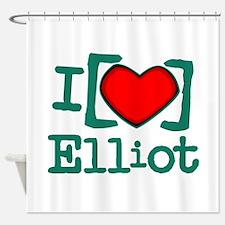 I Heart Elliot Shower Curtain