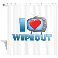 I Heart Wipeout Shower Curtain