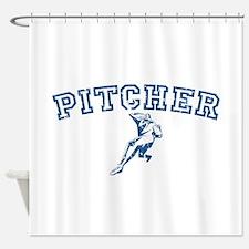 Pitcher - Blue Shower Curtain