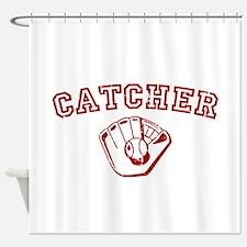 Catcher - Red Shower Curtain