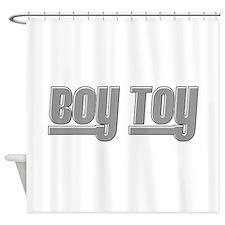 Boy Toy - Gray Shower Curtain