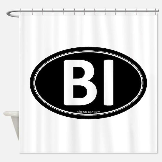 BI Black Euro Oval Shower Curtain