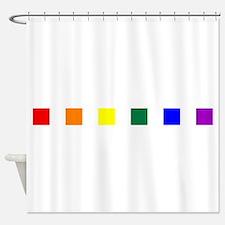 Rainbow Pride Squares Shower Curtain