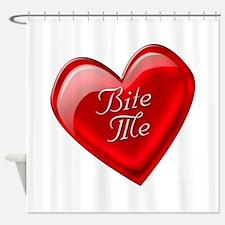 Bite Me Heart Shower Curtain