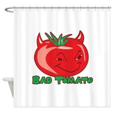 Bad Tomato Shower Curtain