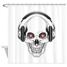 Red Eye DJ Skull Shower Curtain