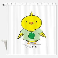 Irish Chick Shower Curtain