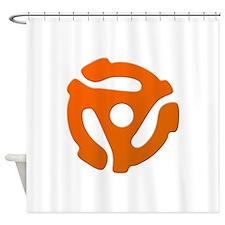 Orange 45 RPM Adapter Shower Curtain
