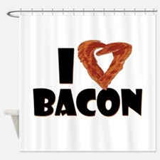 I Heart Bacon Shower Curtain