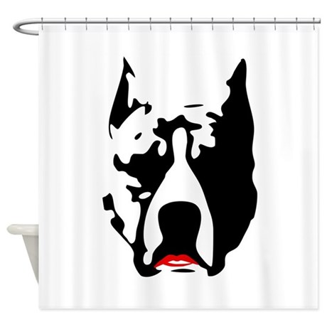 Pit Bull with L Shower Curtain