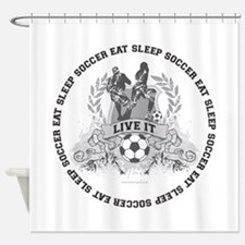 Eat Sleep Soccer Shower Curtain