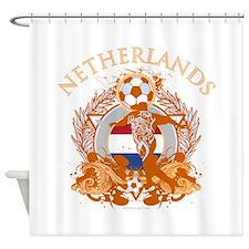 Netherlands Soccer Shower Curtain