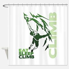 Eat Sleep Climb Shower Curtain