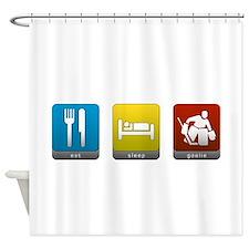 Eat, Sleep, Goalie Shower Curtain